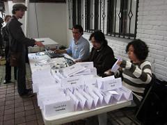 Registration desk
